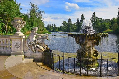 famous Italian Gardens at Hyde Park in London, UK