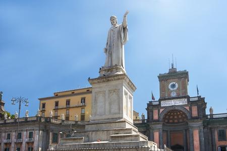 monument of Dante Alighieri at Piazza Dante in Naples