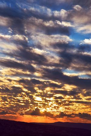 Beautiful sunset over Cana of Galilee, Israel