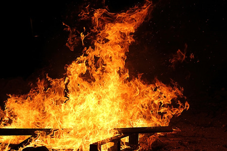 lag baomer bonfire, symbol of the jewish holiday Stock Photo