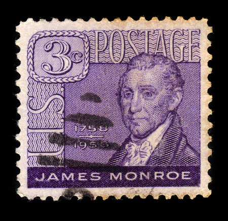 United States - CIRCA 1958: A stamp printed in the United States shows James Monroe (1758-1831), 5th President of the U.S., circa 1958