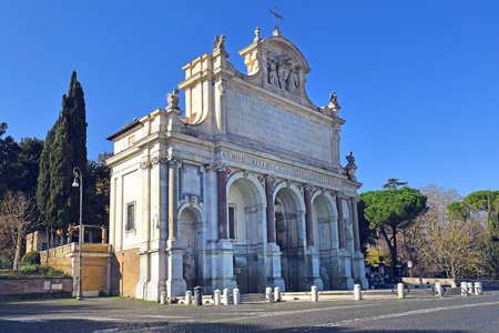 Acqua Paola fountain also known as Il Fontanone, monumental fountain located on the Janiculum Hill, Rome, Italy