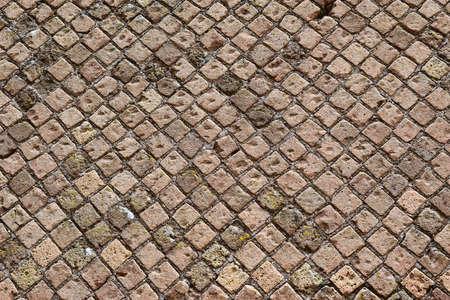 detail of antique brickwork in Tivoli, neighborhood of Rome, Italy Stock Photo