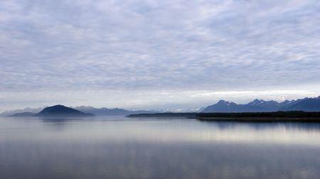 Early morning in Glacier Bay National Park. Alaska