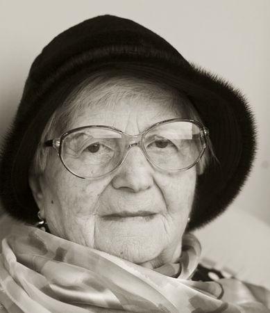 A portrait of a still beautiful senior woman.  photo