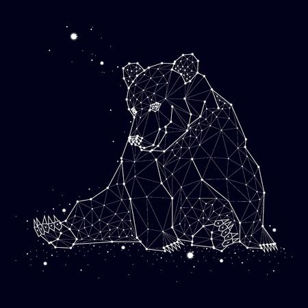 熊の星座  イラスト・ベクター素材