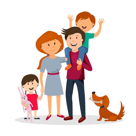 Belle famille heureuse