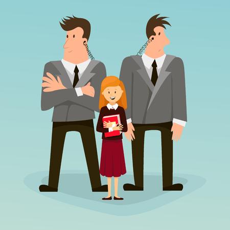 Bodyguard, a security guard. vector Illustration