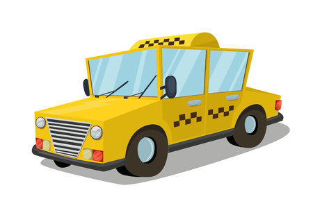 Taxi car isolated vector art