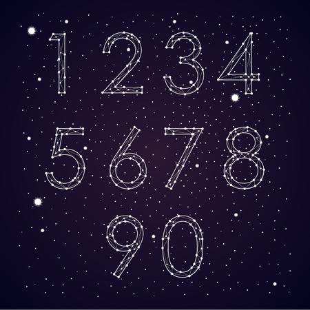 Font constellation vector Illustration