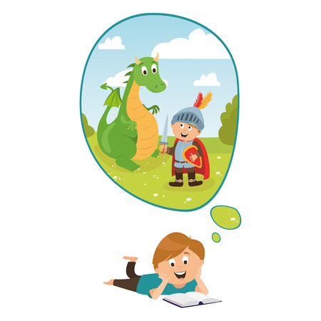 large set of childrens characters of people. school pupils, fun jump, vector Çizim
