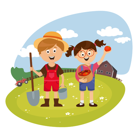 large set of children's characters of people. school pupils, fun jump, vector