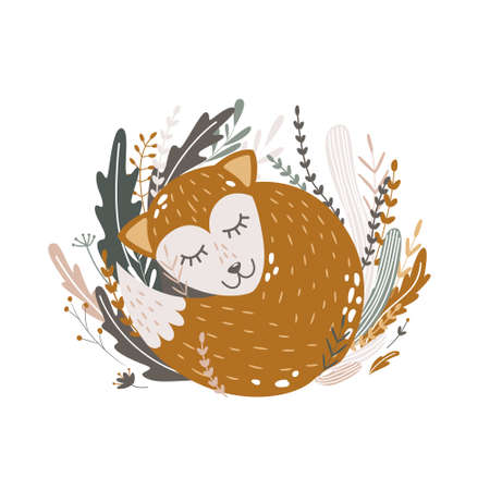cute wild and domestic animals and birds. children's poster. fox and lion, mom chicken and her children chickens. for printing on fabric, clothes, design of a children's room. vector trend