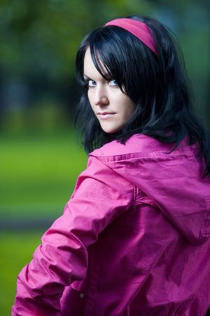 frontlet: girl in pink jacket