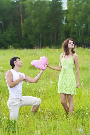 man declaration of love for woman Stock Photo - 3576407