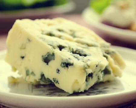 gorgonzola: gorgonzola cheese on white plate, Italian food