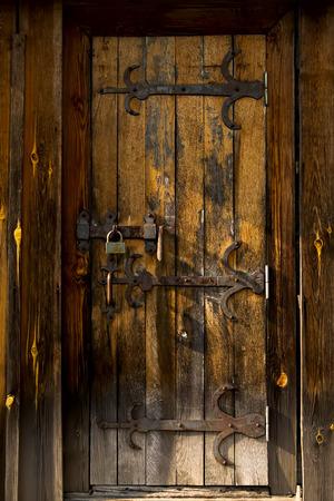 old doors: Old vintage wooden door. Grunge style building