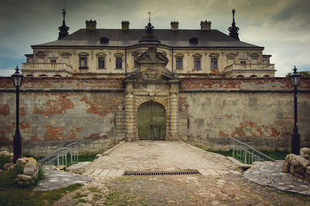 The old abandoned Ukrainian Castle, Renaissance Palace, village Pidhirtsi