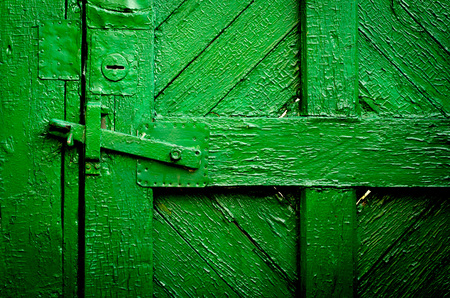 old doors: The old vintage wooden doors, green colour