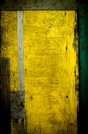 Wall Painted In Yellow, Cracked. Abstract Background Stock Photo ...