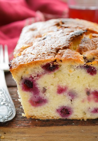 blackcurrant: blackcurrant cake on wooden table