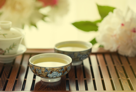 Traditional chinese tea ceremony Cun Fu Cha