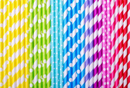 Colorful drink straws for background Standard-Bild