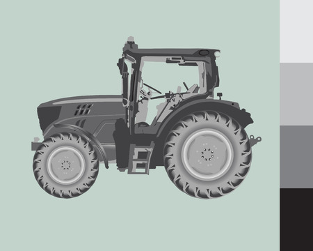 fertilize: Tractor Illustration