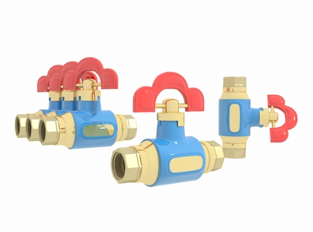 fittings: Valve for quick water Stock Photo