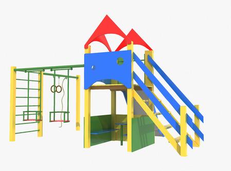 jardin de ni�os: Patio colorido para los ni�os