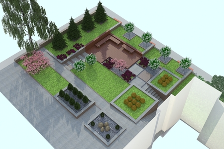 beautification: landscaping