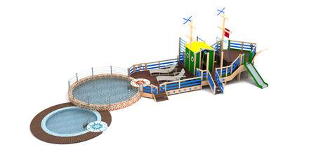 jardin de infantes: parque infantil