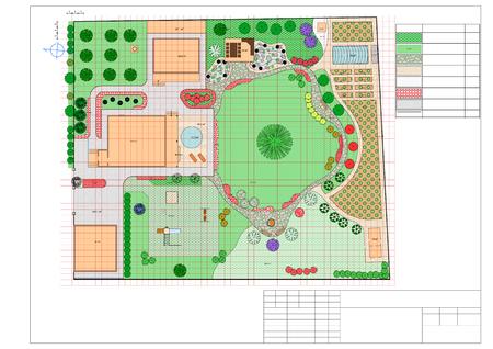 Plan des Gartens Land Standard-Bild - 47999968