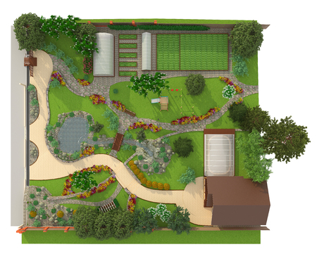 paving stones: Landscape architecture and design in your garden