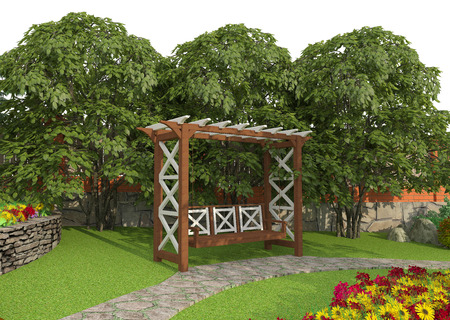 ornamental garden: Landscape architecture and design in your garden