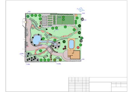 diseño paisajista plan del jardín chino tradicional. fotos