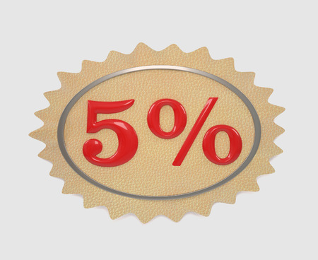 give away: Discount leather, illustration from the 5 mark on a white background