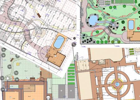 landscape architecture: Landscape architect design traditional chinese garden plan.