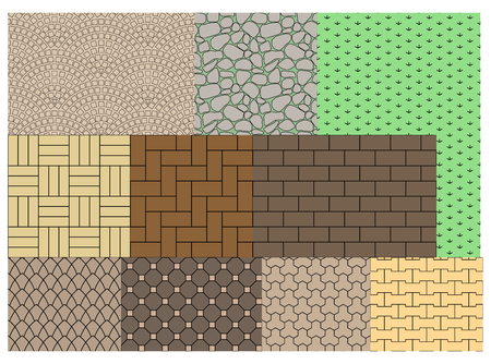 Seamless texture of paving slabs for landscaping