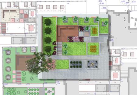 Landscape architect design traditional chinese garden plan.