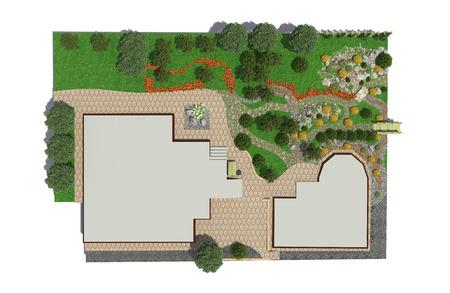 back yard: Landscape architect design traditional chinese garden plan.