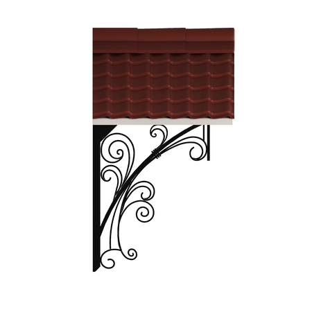siding: 3D illustration wrought a canopy over the entrance