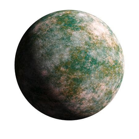 A series of unknown planets on an isolated background. 3d rendering.