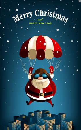 new year celebration: Santa Claus New Year Vector