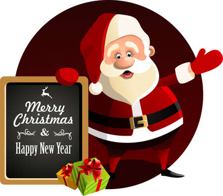 claus: Santa Claus New Year Vector illustration