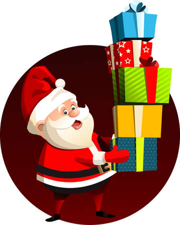 Santa Claus New Year Vector illustration