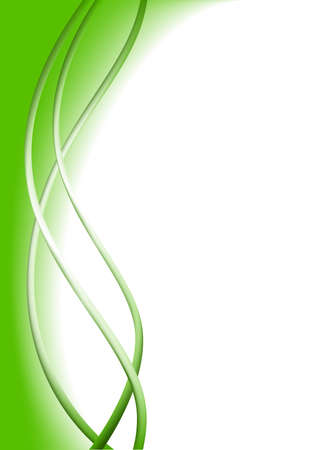 Abstract vertical header green wave vector design Banco de Imagens