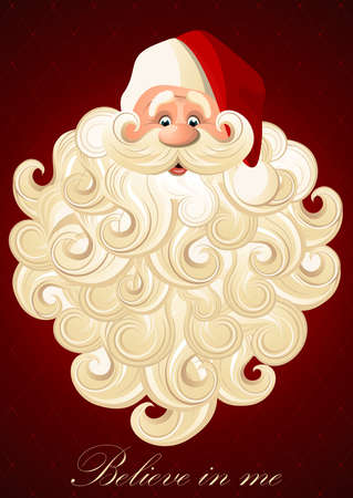 Happy Santa Claus on a red background