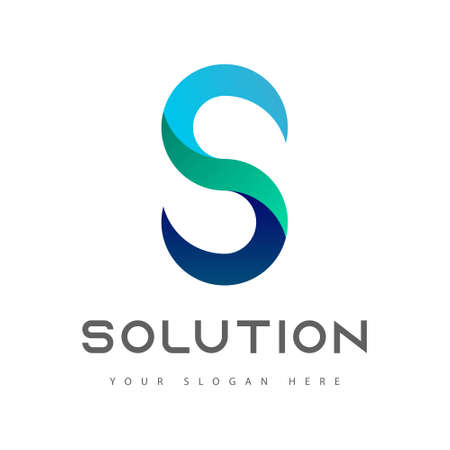 S letter business company graphic logo, solution sign, success icon. Monogram letter S brand logo design template. Corporate identity. Vector illustration. Logo