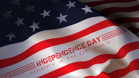 independent day: Happy 4th of July. Independence Day. Vector design